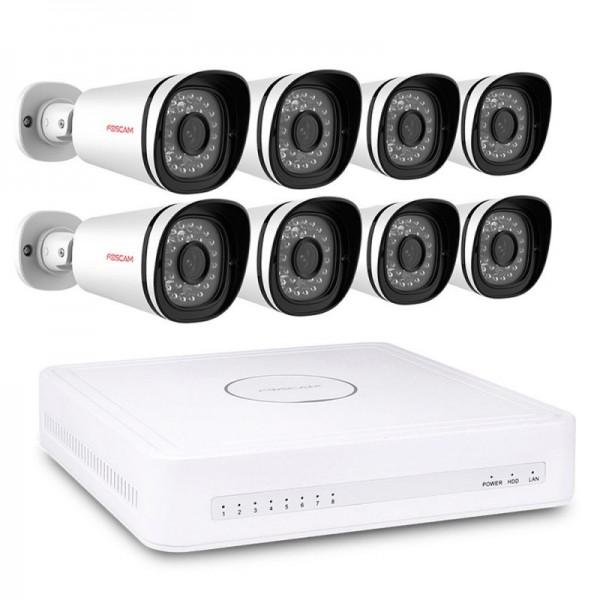 Foscam FN7108E-B8-2T – Kit video surveillance numérique HD Foscam 8 caméras 1080P https://boutique.sdi31.fr